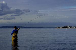Fly Fishing under gray skies